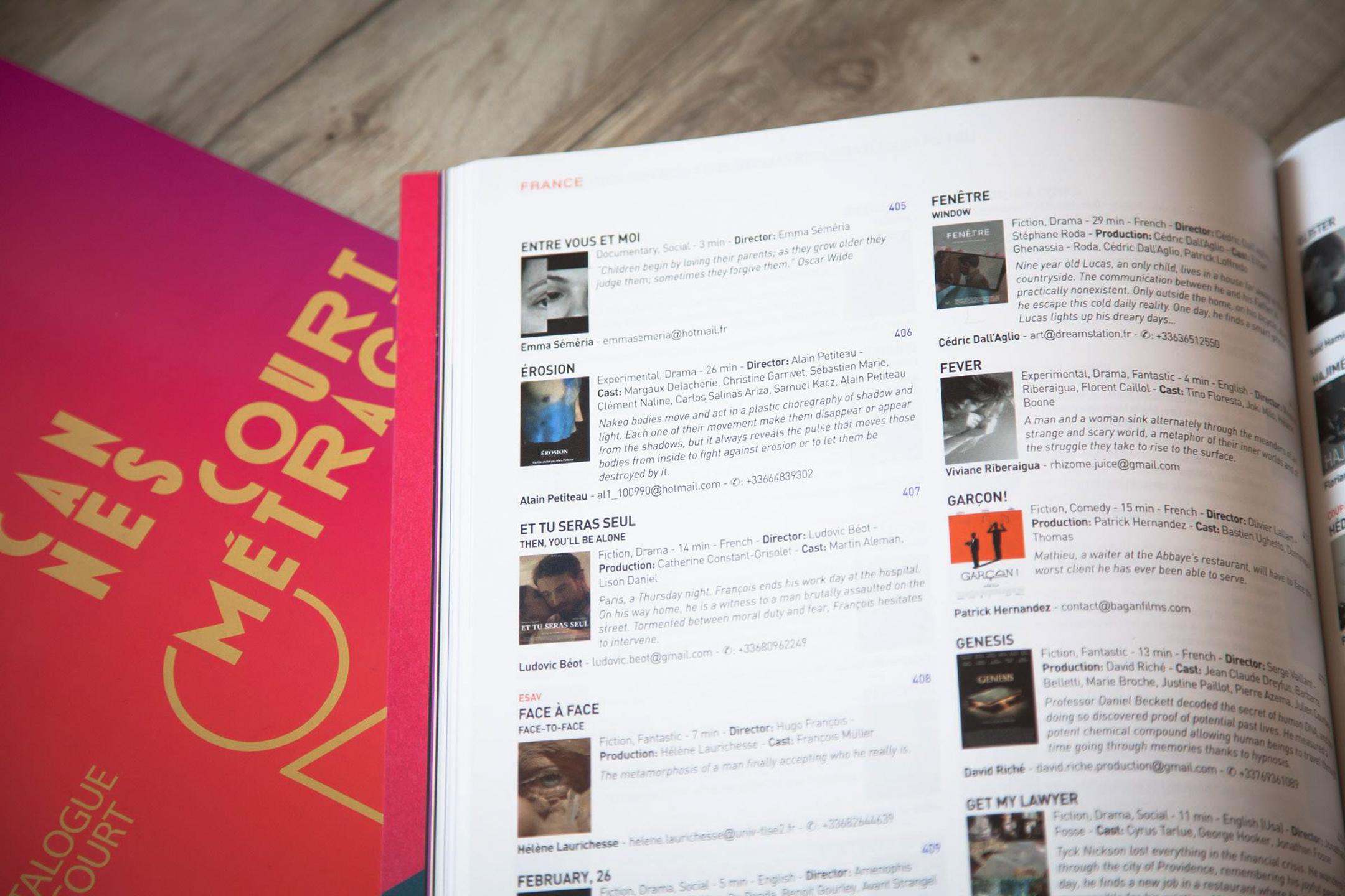 Catalogue du Film court Short Film Corner 2017 Festival de Cannes – Riberaigua Viviane 1
