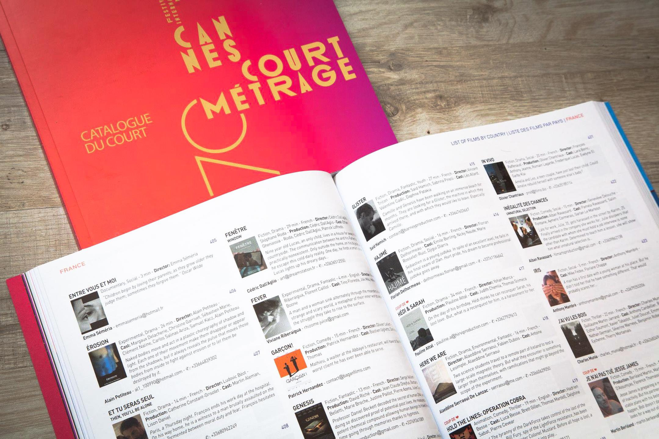 Catalogue du Film court Short Film Corner 2017 Festival de Cannes – Riberaigua Viviane réalisateur