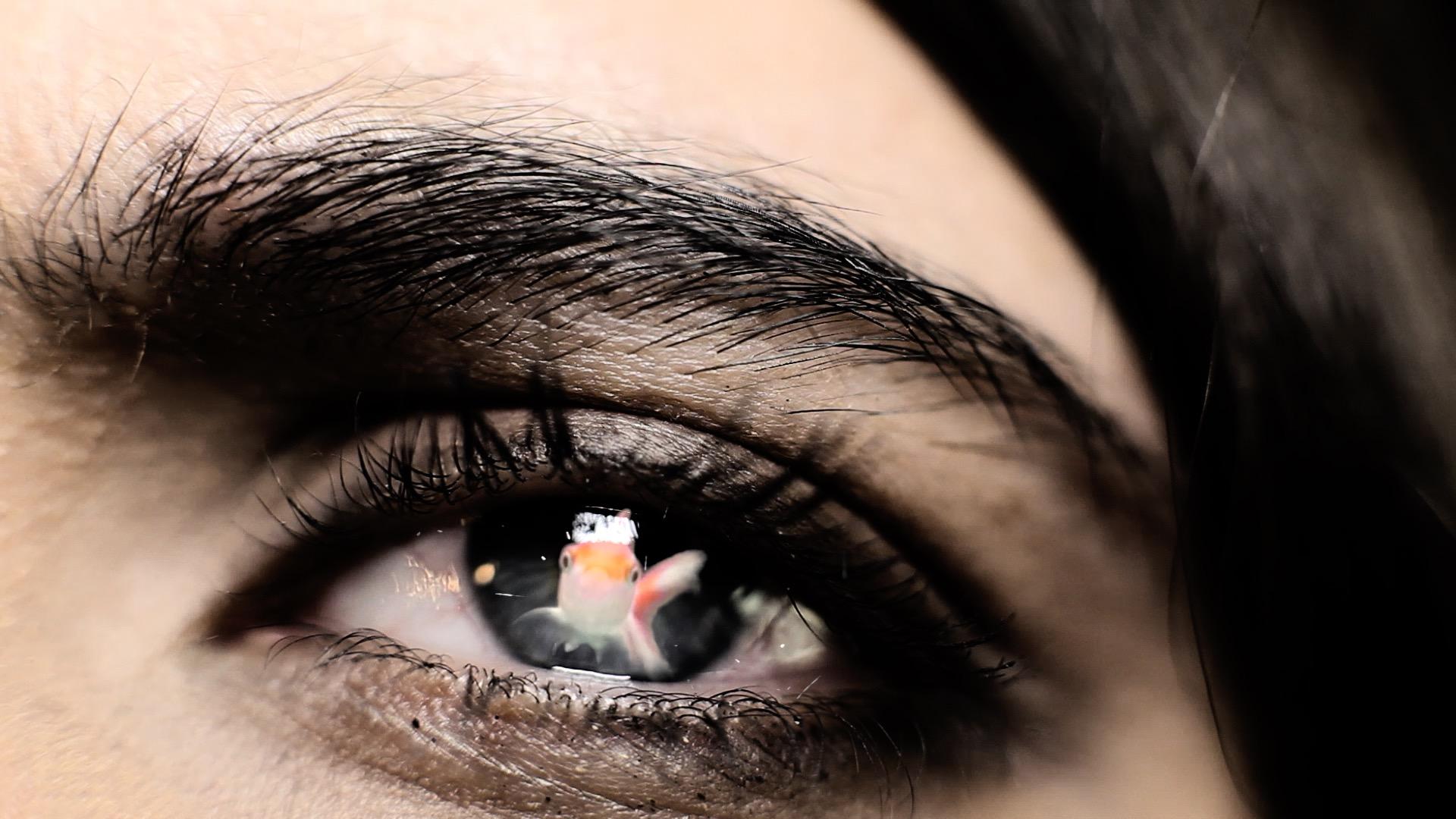 oeil gros plan poisson – clip musique – Elerose-music -realisateur – Riberaigua clip – Juste en rêvant – Manon Novak -viviane -riberaigua -realisateur music video director.