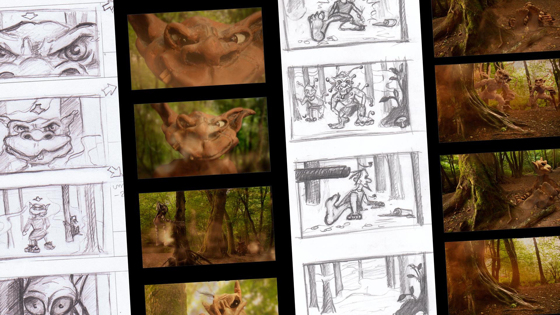 dessin story-board film d animation